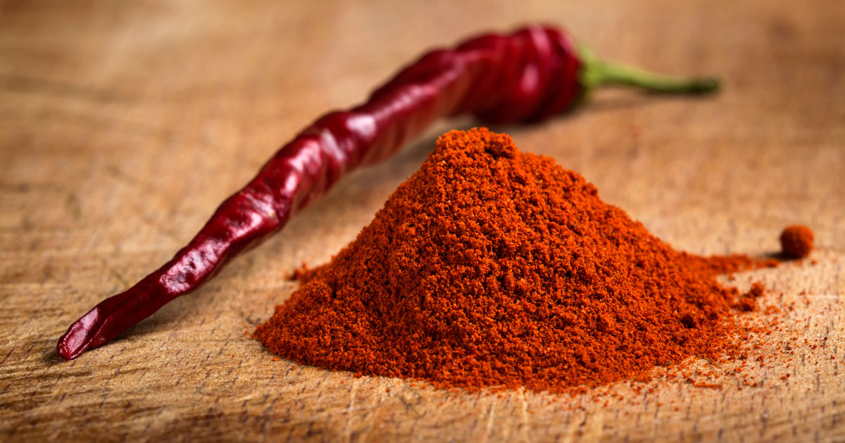Red chilli pepper powder