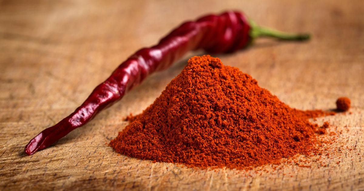 Red chilli pepper powder
