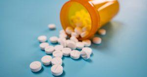 Pile of white pills