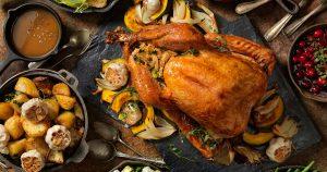Thanksgiving turkey roast dinner